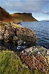 The Isle of Skye coastline near Portree looking in the direction of Torvaig with a fish farm just visible on the right of the picture, Isle of Skye, Scotland, United Kingdom, Europe Stock Photo - Premium Rights-Managed, Artist: Robert Harding Images, Code: 841-05796860