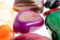 Assortment of semiprecious gemstone Stock Photo - Premium Royalty-Freenull, Code: 679-05797145