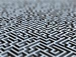 Maze, artwork Stock Photo - Premium Royalty-Free, Artist: Blend Images, Code: 679-05797173