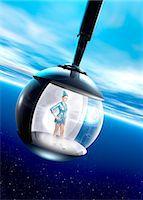 spaceship - Space tourism, composite image Stock Photo - Premium Royalty-Freenull, Code: 679-05797401
