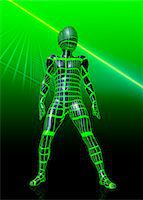 shaft - Humanoid robot, artwork Stock Photo - Premium Royalty-Freenull, Code: 679-05797404
