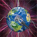 Monitoring Earth, conceptual artwork Stock Photo - Premium Royalty-Freenull, Code: 679-05797896