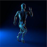 sprint - Running skeleton, artwork Stock Photo - Premium Royalty-Freenull, Code: 679-05798669