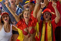 soccer fan - Spanish fans at soccer game in Cape Town, South Africa Stock Photo - Premium Royalty-Freenull, Code: 618-05800173