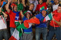 soccer fan - Italian fans at soccer game in Cape Town, South Africa Stock Photo - Premium Royalty-Freenull, Code: 618-05800193