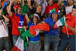 Italian fans at soccer game in Cape Town, South Africa Stock Photo - Premium Royalty-Free, Artist: Gianni Siragusa, Code: 618-05800193