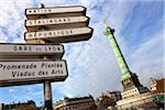 Place de la Bastille and Signs, Paris, France Stock Photo - Premium Rights-Managed, Artist: Damir Frkovic, Code: 700-05800525