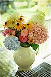 Fresh Cut Flowers in Vase, Bradford, Ontario, Canada Stock Photo - Premium Royalty-Free, Artist: Shannon Ross, Code: 600-05800601