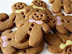 Close up of gingerbread men Stock Photo - Premium Royalty-Free, Artist: Cultura RM, Code: 649-05801486