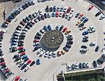 Aerial view of circular parking lot Stock Photo - Premium Royalty-Free, Artist: Robert Harding Images, Code: 649-05801675