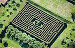 Aerial view of hedge maze Stock Photo - Premium Royalty-Free, Artist: Ikon Images, Code: 649-05801681