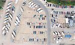 Aerial view of dock and parking lot Stock Photo - Premium Royalty-Free, Artist: GreatStock, Code: 649-05801684