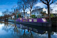 Boat Moored on Regent's Canal, Little Venice, London, England Stock Photo - Premium Rights-Managednull, Code: 700-05803174