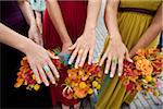 Bridesmaids Wearing Rings and Holding Bouquets Stock Photo - Premium Rights-Managed, Artist: Ikonica, Code: 700-05803284