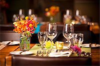 Place Setting at Wedding Reception Stock Photo - Premium Rights-Managednull, Code: 700-05803288