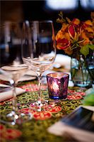 Tealight on Table Stock Photo - Premium Rights-Managednull, Code: 700-05803293