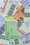 Pile of Movie Ticket Stubs Stock Photo - Premium Royalty-Free, Artist: Amy Whitt, Code: 600-05803391
