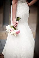 female rear end - Bride Holding Bouquet Stock Photo - Premium Rights-Managednull, Code: 700-05803344