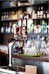 Beer Taps in Bar Stock Photo - Premium Rights-Managed, Artist: Ikonica, Code: 700-05803358