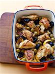 Chicken Baked with Lemons, Olives and Prunes Stock Photo - Premium Royalty-Free, Artist: Edward Pond, Code: 600-05803501