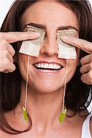 facial - Portrait of Woman with Herbal Tea Bags Covering Eyes Stock Photo - Premium Royalty-Freenull, Code: 600-05803531