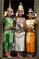 Cambodian Dancers inside Bayon Temple, Angkor Thom, Siem Reap, Cambodia Stock Photo - Premium Rights-Managednull, Code: 700-05803540