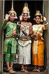 Cambodian Dancers inside Bayon Temple, Angkor Thom, Siem Reap, Cambodia Stock Photo - Premium Rights-Managed, Artist: dk & dennie cody, Code: 700-05803540