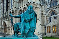 Statue in Front of York Minster, York City, North Yorkshire, England Stock Photo - Premium Rights-Managednull, Code: 700-05803567