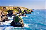Sea Stacks of Bedruthan Steps, Cornwall, England Stock Photo - Premium Royalty-Free, Artist: Tim Hurst, Code: 600-05803637