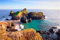 rugged landscape - Sea Stacks and Tidal Island at Kynance Cove, Lizard Peninsula, Cornwall, England Stock Photo - Premium Royalty-Freenull, Code: 600-05803652