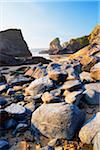 Boulders and Sea Stacks at Low Tide, Bedruthan Steps, Cornwall, England Stock Photo - Premium Royalty-Free, Artist: Tim Hurst, Code: 600-05803657