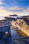 Rocky Coastline and Lighthouse, Godrevy Point, Cornwall, England Stock Photo - Premium Rights-Managed, Artist: Tim Hurst, Code: 700-05803731