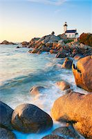 Lighthouse on Rocky Coastline, Brignogan-Plage, Finistere, Bretagne, France Stock Photo - Premium Rights-Managednull, Code: 700-05803764