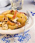 Pasta with mushrooms and ham Stock Photo - Premium Royalty-Free, Artist: Photocuisine, Code: 652-05806934