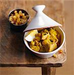 Veal Tajine with sultanas and hard-boiled egg Stock Photo - Premium Royalty-Free, Artist: Photocuisine, Code: 652-05807261