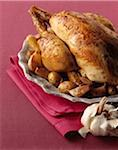 Roast chicken with garlic Stock Photo - Premium Royalty-Free, Artist: Photocuisine, Code: 652-05807378