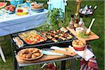 Barbecue outdoors