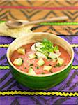 Tomato,avocado and yoghurt cold soup Stock Photo - Premium Royalty-Freenull, Code: 652-05807858