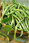 Basket of green beans Stock Photo - Premium Royalty-Freenull, Code: 652-05808125