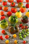 Assorted oraganic tomatoes Stock Photo - Premium Royalty-Freenull, Code: 652-05808329