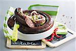 Blood sausage Stock Photo - Premium Royalty-Freenull, Code: 652-05808775