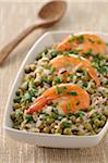Mixed rice,gambas with turmeric,pea and coconut salad Stock Photo - Premium Royalty-Free, Artist: Ron Fehling, Code: 652-05808960