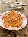 Sweet potato and walnut chestnut flour tartlet Stock Photo - Premium Royalty-Freenull, Code: 652-05809039