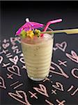 Banana,kiwi,honeydew melon,date and oat milk shake Stock Photo - Premium Royalty-Free, Artist: foodanddrinkphotos, Code: 652-05809243