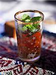 Glass of mint tea Stock Photo - Premium Royalty-Freenull, Code: 652-05809420