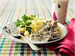 Minced veal in cream sauce with mashed potaoes Stock Photo - Premium Royalty-Freenull, Code: 652-05809501