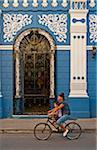 Woman and Child on Bicycle, Chamaguey, Cuba Stock Photo - Premium Rights-Managed, Artist: Peter Christopher, Code: 700-05810133