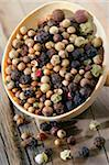 Mix of five different berries Stock Photo - Premium Rights-Managed, Artist: Photocuisine, Code: 825-05811131