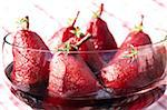 Williams pear dessert with blackcurrant wine and savory Stock Photo - Premium Rights-Managed, Artist: Photocuisine, Code: 825-05811362