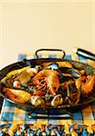 Paella with wild rice Stock Photo - Premium Rights-Managed, Artist: Photocuisine, Code: 825-05811694